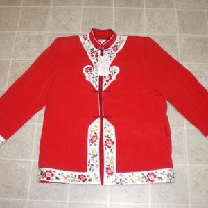 Vintage Chinese Embroidered Jacket New Old Stock M